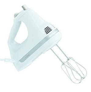 KitchenAid KHM5APWH White 5-Speed Ultra Power Hand Mixer